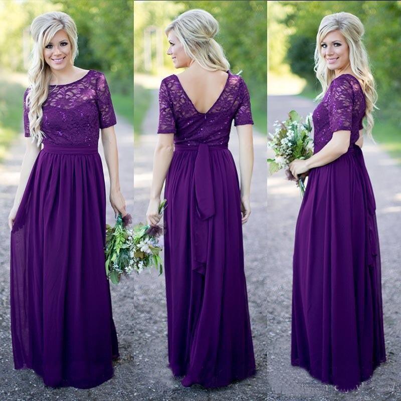 Popular Purple Vintage Lace Bridesmaid Dresses-Buy Cheap Purple ...