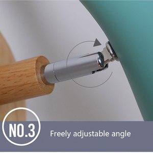 Image 5 - נורדי מינימליסטי יצירתי macaron מוצק עץ ליד המיטה בחדר שינה סלון מחקר מעבר מנורות