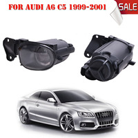 2x Car Front Bumper Clear Lens Fog Lights FogLamp with Bulb H3 For Audi A6 S6 C5 1999 2000 2001 2002 2003 2004 #P311