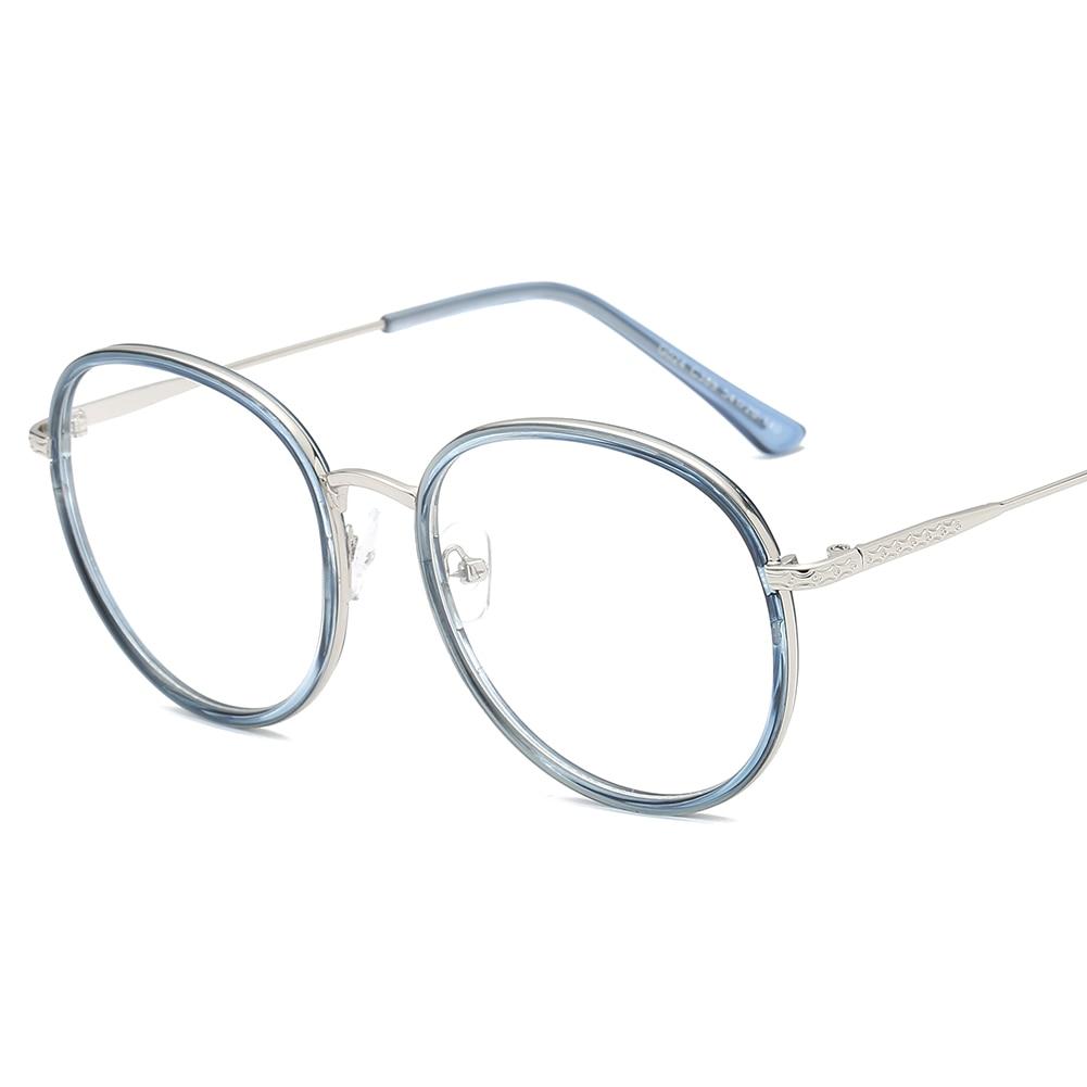 eb4295a759 Retro Eyeglasses Frame Vintage Round Prescription Glasses Frame Oversize Myopia  Optical Glasses Pink Eyewear Frame For Women Men