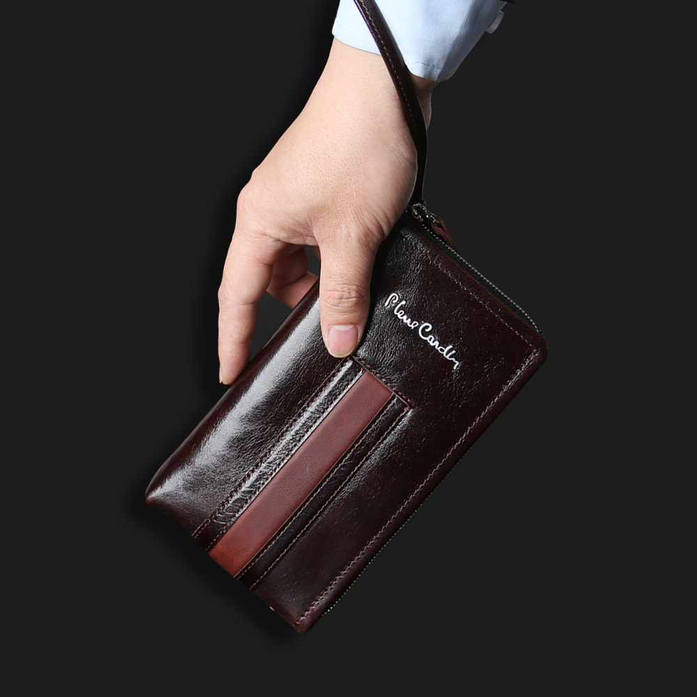 Pierre Cardin Casual Reticule Bag Man Bag Genuine Leather Bag Strap For Samsung S10 S9 S8 Plus S7 S10e Mobile Phone Case Cover