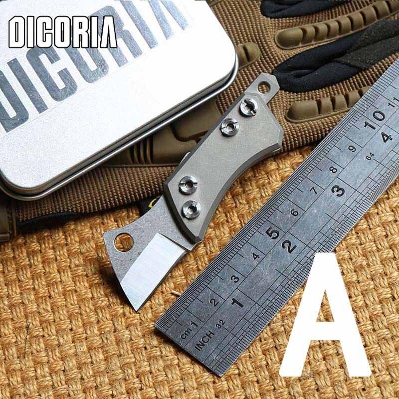 Dicoria мини малый носорог d2 лезвие tc4 titanium ручка тактический открытый складной нож лагерь охота выживания ножи edc инструмент