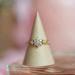 Регулируемые Изящные милые женские позолоченные кольца в виде снежинки, изящные кольца, кольца, свадебные ювелирные изделия