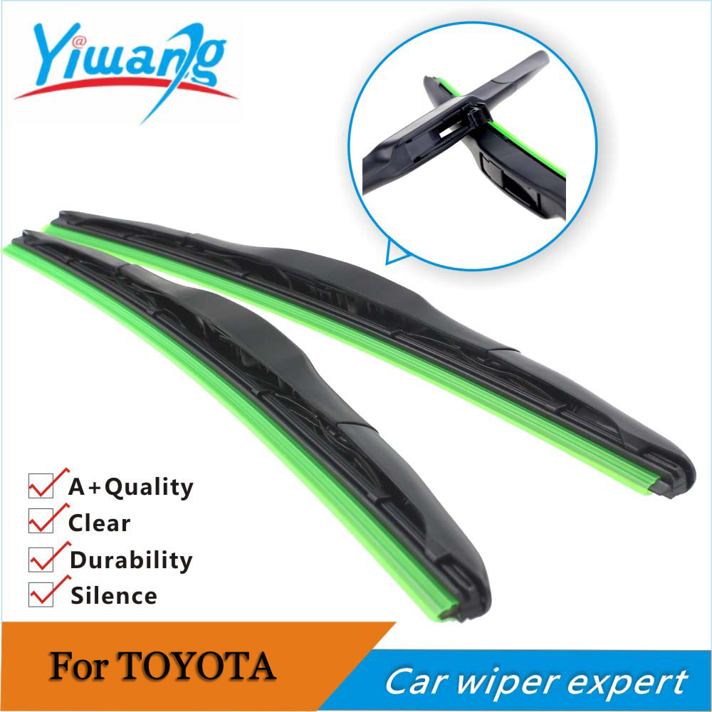 auto car wiper blade for toyota yaris size 24 14 2pcs car windscreen windshield rubber wiper. Black Bedroom Furniture Sets. Home Design Ideas