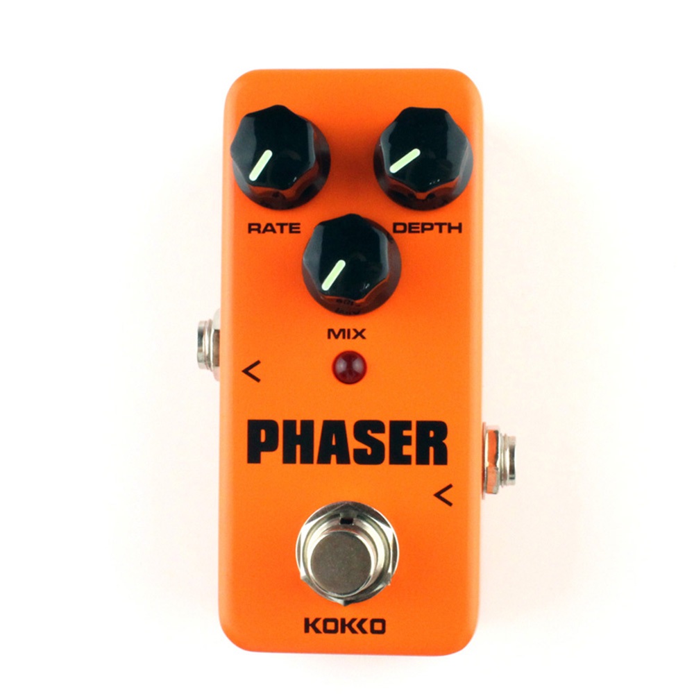 New KOKKO Analog Phaser Guitar Effects Mini Effect Pedal Rate Mix Depth Control Ture bypass