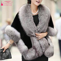Gorgeous Black Wedding Bolero Faux Fur coat Jacket  de noiva  winter coats for brides Accessories Women Evening Wear Z378