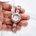 Pulseira de Strass luxo Mulheres Assistem Senhoras Relógio De Quartzo Das Mulheres Relógio de Pulso Relogio feminino Montre Femme Reloj Mujer 6036