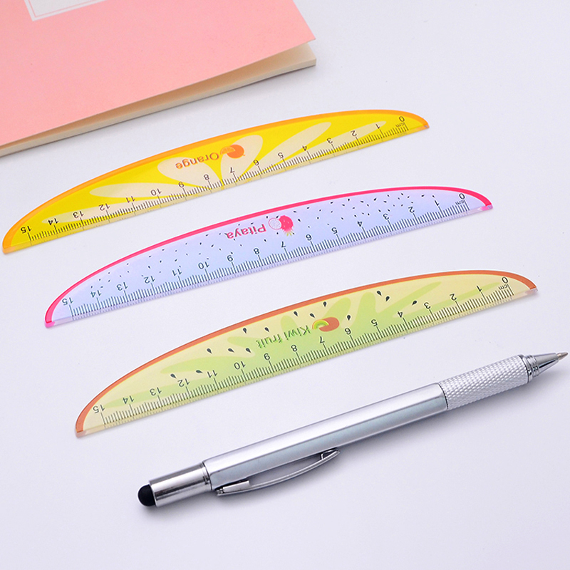 6 Pcs/lot Creative Ruler Kawaii Fruit Cartoon Plastic Rulers For Kids Student Gift School Supplies Stationery
