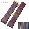 Genuine leather Watchband mens bracelet leather watch strap stitched 23mm watch band mens wristwatches belt  fold buckle