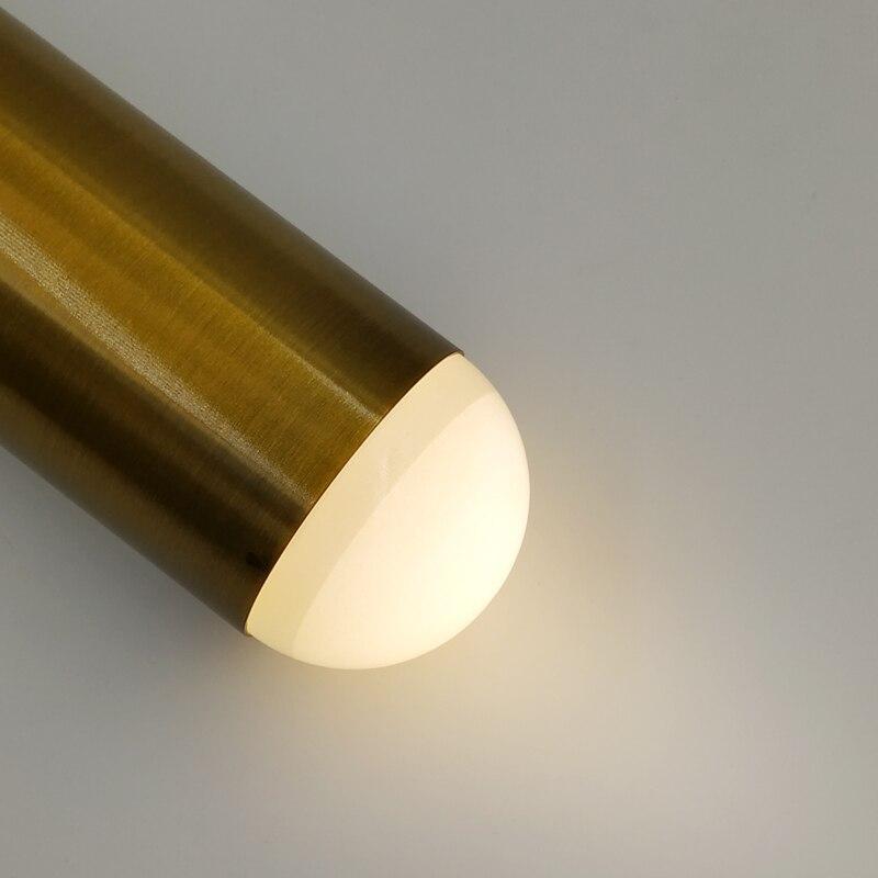 Modern LED Pendant Lights Single Bar Lamp Aluminum light Dining Room Gold lamps GU10 Bulbs hanglamp Lighting For living room