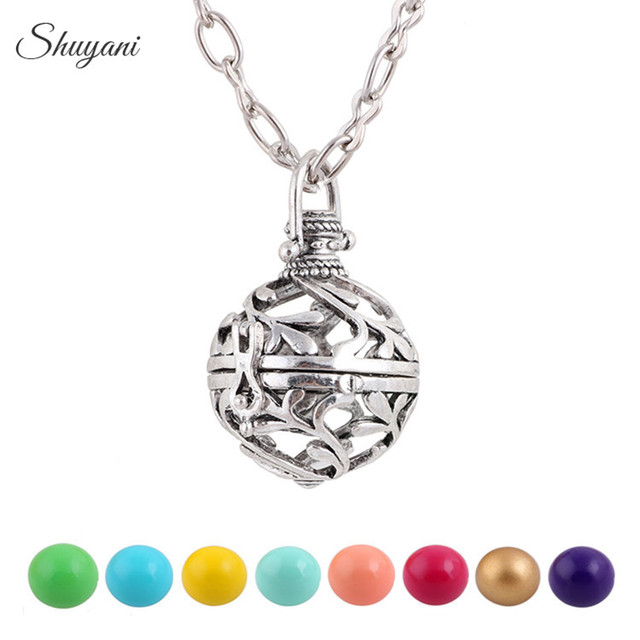 10pcs top sale pregnancy harmony ball angle caller chime ball 10pcs top sale pregnancy harmony ball angle caller chime ball necklace hollow cage locket pendant for aloadofball Image collections