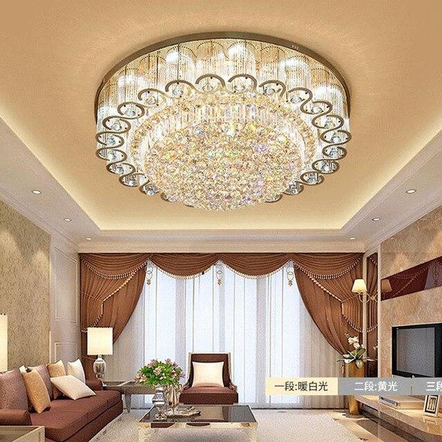 Luxury Modern Crystal Ceiling Lights Living Room Ceiling Lamp Gold