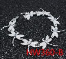 Regalo de plata Comercio exterior fábrica europea tendencia de la moda libélula piedra joya pulsera HW360 erding