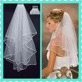 2016 venda frete grátis todo venda de ações o vestido de casamento da noiva fita véu véu de produtos vendem como bolos quentes KP458 rápido entrega