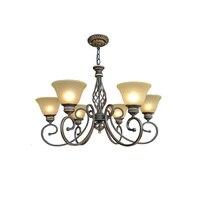3 Head Vintage Wrought Iron Chandelier 110V 220v LED E27 Home Lighting Loft Lamps Industrial Lamps