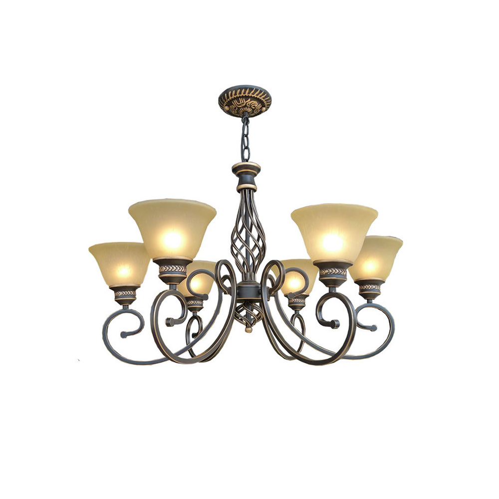 3 Head Vintage Wrought Iron Chandelier 110V/220v LED E27 Home Lighting Loft Lamps Industrial Lamps Country Style Lighting