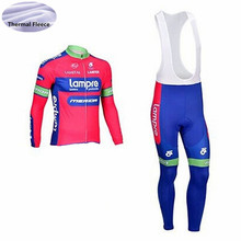 triathlon Lampre Men cycling jersey set 2018 pro team long sleeve Ropa  Ciclismo Winter Thermal Fleece 3428d0039
