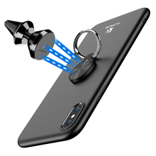 ФОТО floveme ring holder phone case for iphone x soft silicone magnetic car stand case for iphone 7 8 7 plus 8 plus cover capa