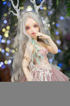 EVa 1/4 female bjd female doll give eyeball joint doll gift