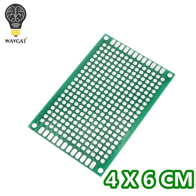 10pcs/lot 4x6 cm double Side Copper prototype pcb 4*6 panel Universal Board Free Shipping Dropshipping