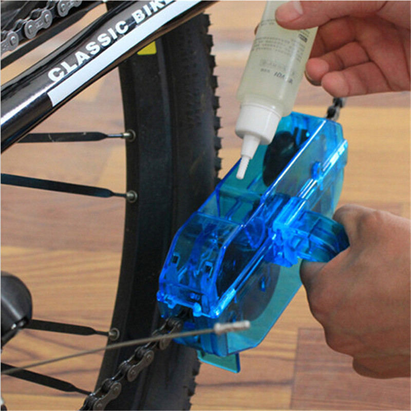 New Bicycle Chain Cleaner Cycling Bike Machine Bicycle Chain Cleaner Tool Kits Scrubber Washing Tool Freeshipping