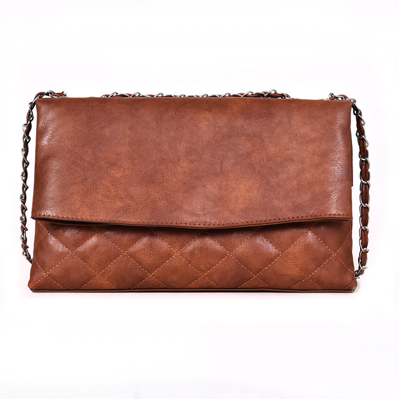 European and American fashion tide bag female shoulder bag simple wild Messenger bag Lingge small fragrance chain handbag 4