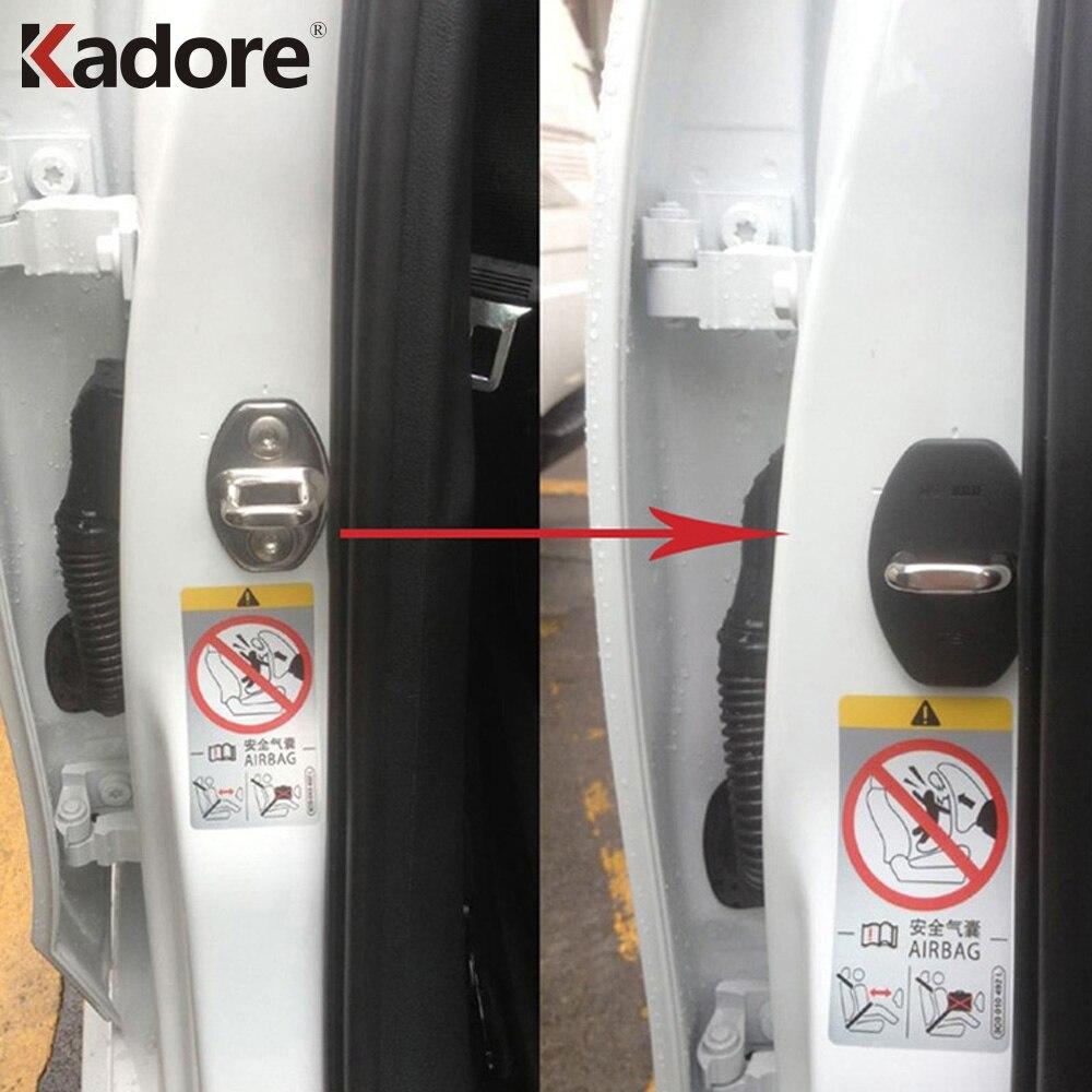 Accessories For Volkswagen Atlas Teramont 2017 2018 Car Plastic Door Lock Cover Rust Resistant Door Stopper Protection