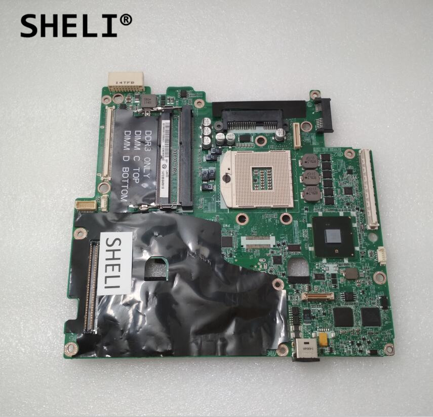 SHELI For Dell M6500 Motherboard DA0XM2MBAG1 CN-0VN3TR 0VN3TR VN3TR with 4 memory slots sheli for dell 1645 motherboard with hd 4670 1gb da0rm5mb8e0 cn 0y507r 0y507r y507r