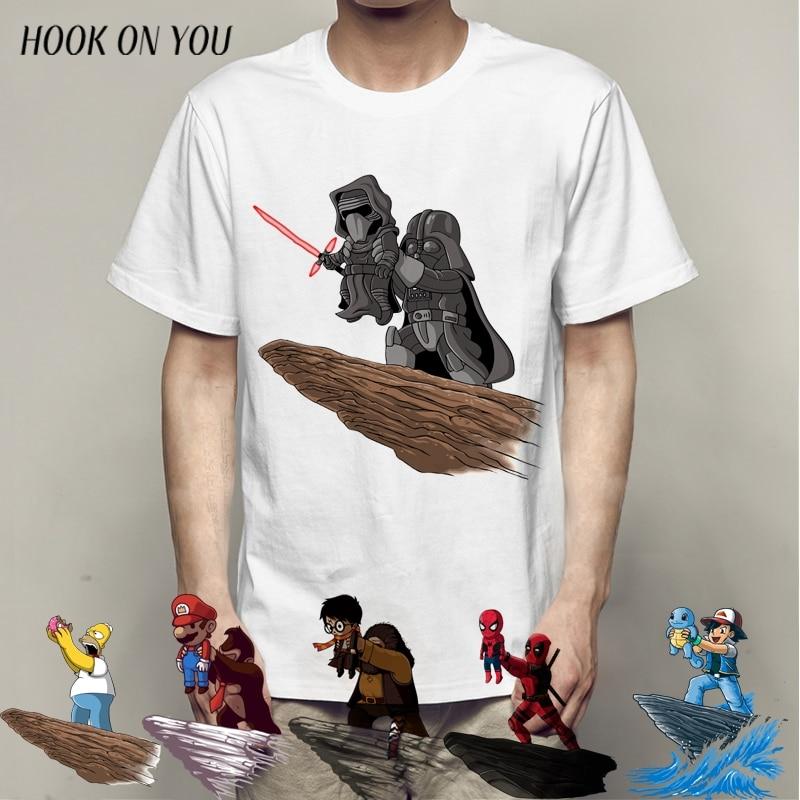 Deadpool Men T Shirt Fashion Design Tops Star War The Darth King Pokemon Printed T-Shirts Punk Hipster Tees