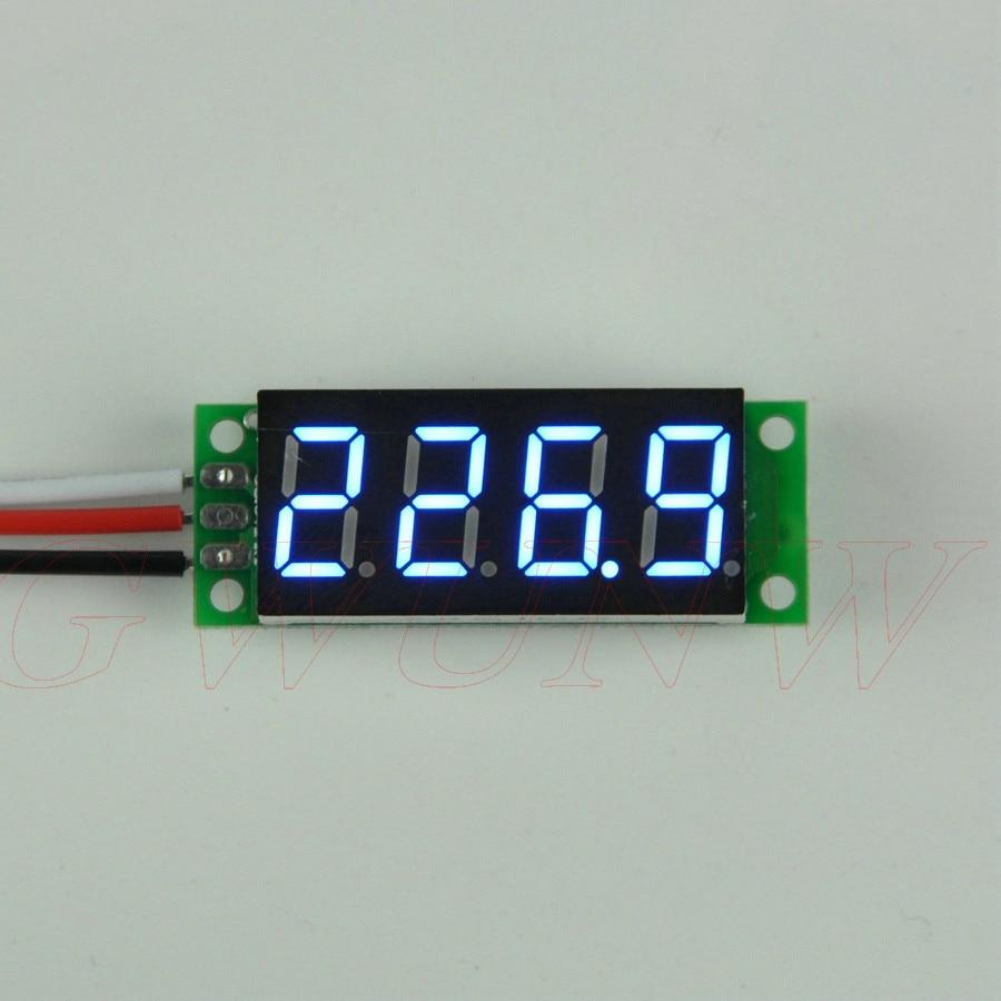 GWUNW BY436V DC 0-500.0V(500V)   0.36  Inch 4 Bit Micro Voltage Tester Meter Digital Display LED Voltmeter No Shell