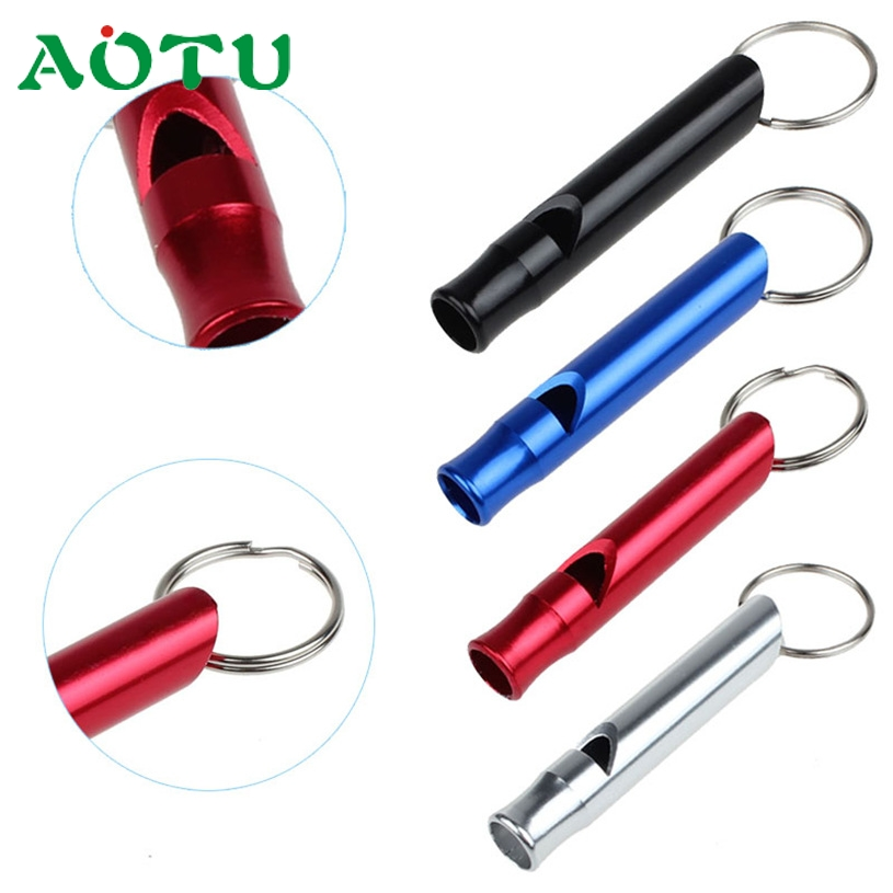 Aotu Mix Aluminum Emergency Survival Whistle Keychain For Camping Hiking SL SEP 20