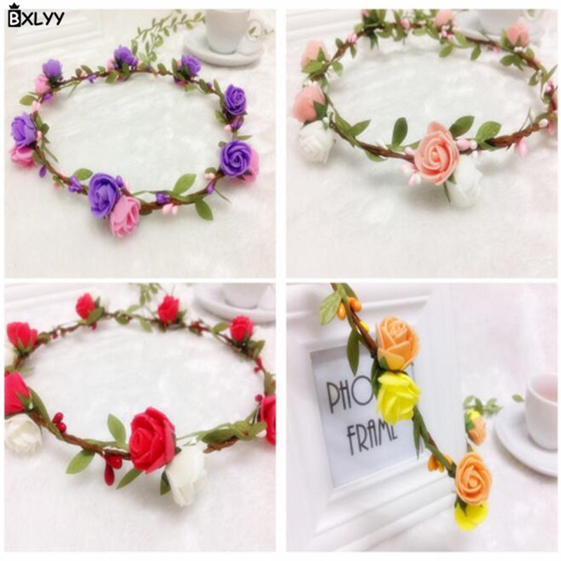 BXLYY Artificial Garland Rattan Wreath Foam Flower Photo Props Headdress Birthday Party Party Supplies 2019 New Year Gift 7z in Party Favors from Home Garden