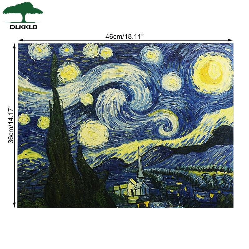 Ван Гог произведение импрессионистов, картина звездное небо, художественный плакат, бумага для бара, кафе, украшение для дома, наклейка на стену, декоративная живопись
