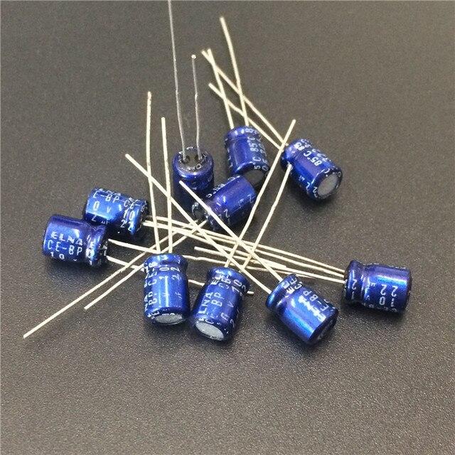 10pcs 22uF 10V ELNA CE BP 5x7mm 10V22uF Bipolar Audio Capacitor