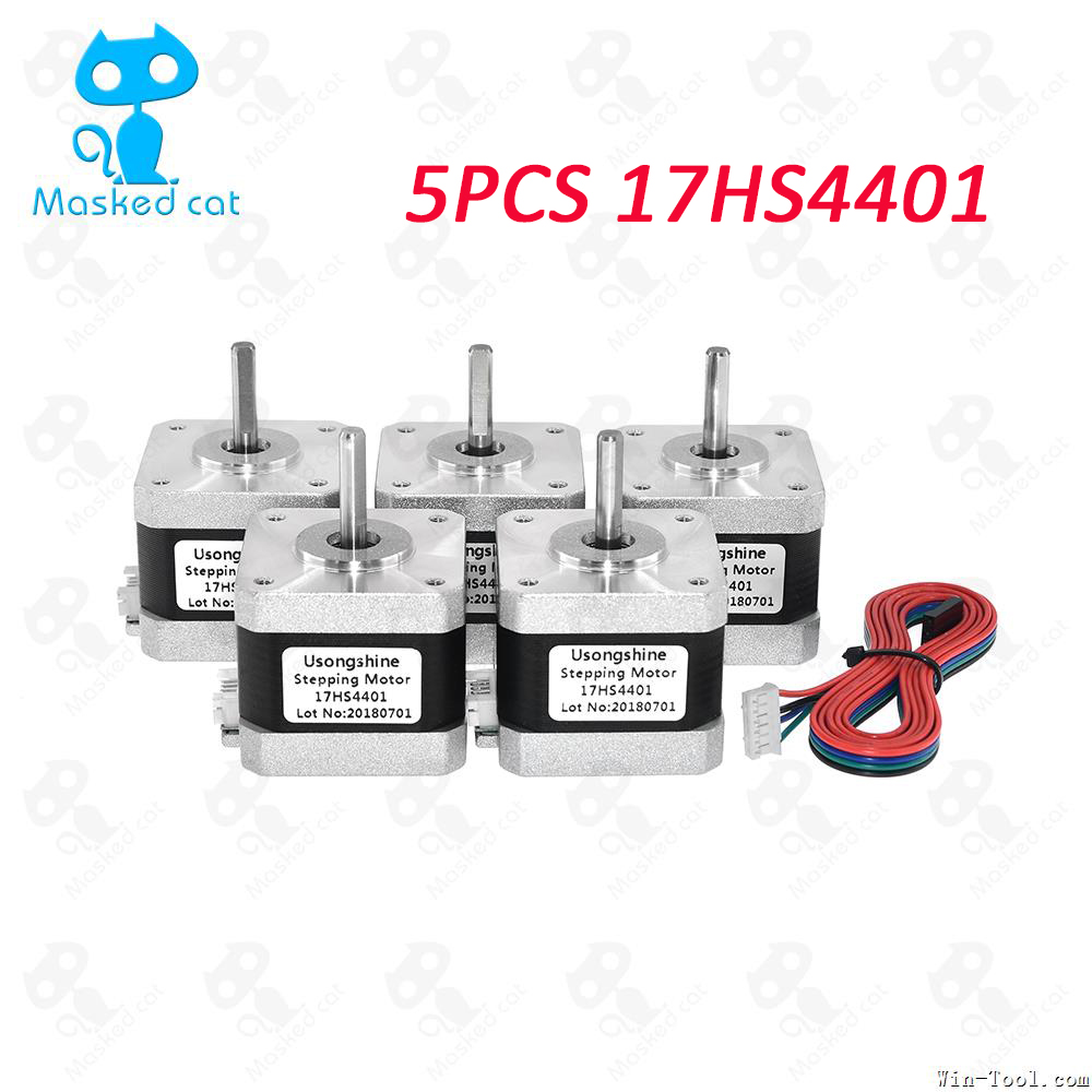 5pcs/lot Nema17 Stepper Motor 4-lead 42 motor Nema 17 motor 42BYGH 1.7A (17HS4401/17HS4401S) motor for CNC XYZ цена и фото