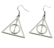 2015 Hot Fashion Jewelry 50 Pair Vintage Silver Deathly Hallows Charm Pendants Drape Earrings For Women DIY Free Shipping S195 hot fashion jewelry 50 pair vintage ancient silver cute lobster charm fashion pendants drape earrings diy free shipping q070