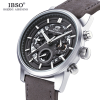 IBSO Brand New Hollow carved Mens Watches 2019 Calendar Stopwatch Multifunction Sports Quartz Watch Men Relogio Masculino