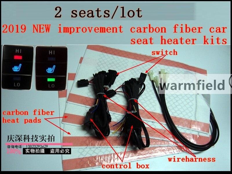 2 seats lot 2019 NEW improvement carbon fiber car seat heater for Toyato RAV4 car heater