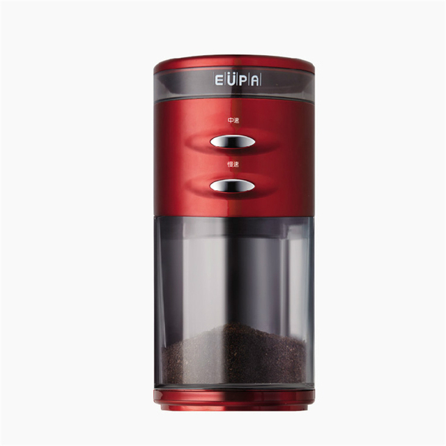 220V Electric Coffee Grinder Maker High Quality Stainless Steel Blade Nuts Beans Coffee Mill With 100g Storage Box Capacity