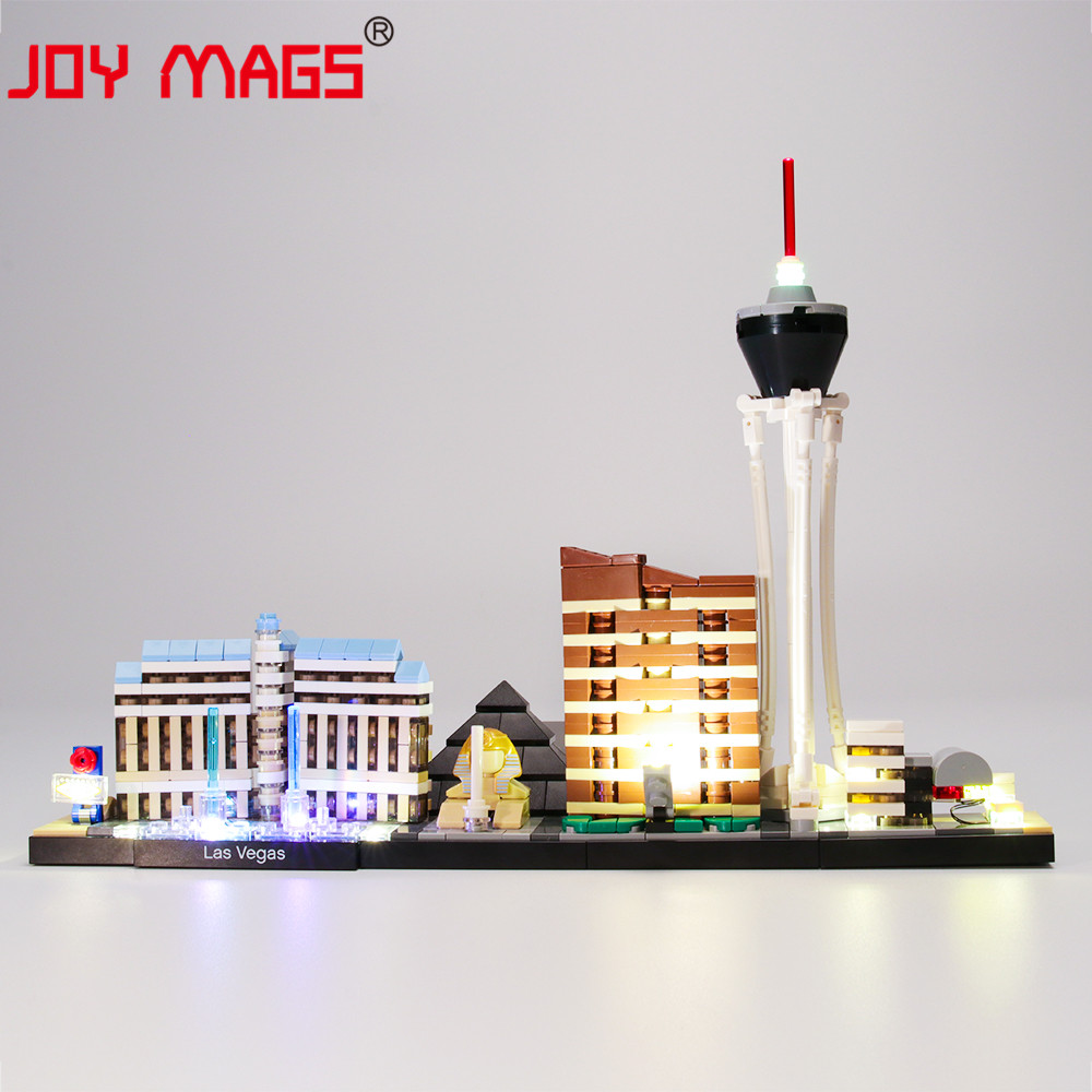 JOY MAGS Led Light Kit For Architecture Las Vegas Lighting Set Compatible With 21047 (NOT Include Model)