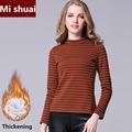 Thick Cotton T Shirt Women 2016 Autumn Winter Turtleneck Long Sleeve Casual Basic TShirt Korean Fashion Slim Women Clothing
