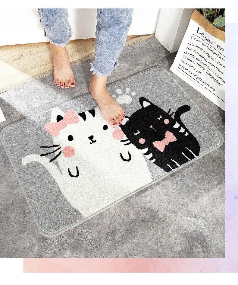 Striped Microfiber Soft Door Floor Mat Bathroom Bath Rug Home Carpet Doormat US