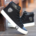 Summer men High help breathable canvas shoes mens shoes black shoes Korean tide Comfortable boys shoes