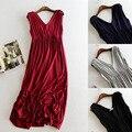 Мода новая коллекция весна лето осень Lady dress Торт юбку надеть большой свободный Модальные Dress Large size dress pregnant women dress