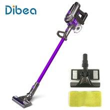 Dibea F6 2-en-1 Dibea F6 2-en-1 De Poche Sans Fil Bâton Aspirateur avec Vadrouille pour Tapis Plancher de Bois Franc de Filtration Cyclonique