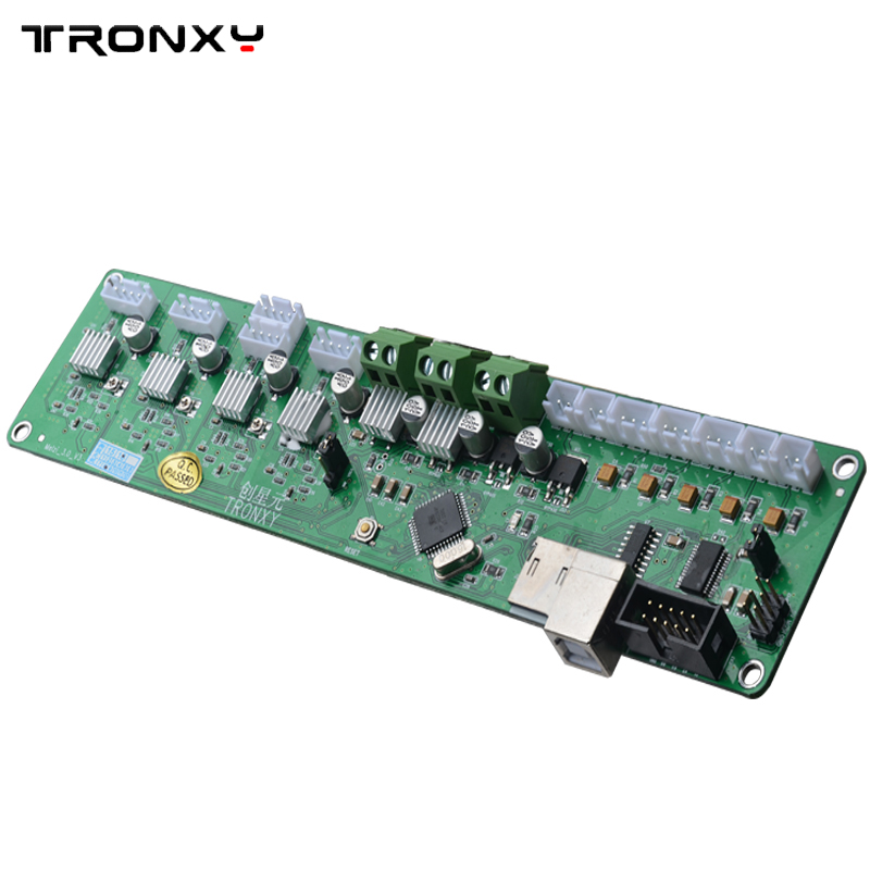 Tronxy 3D printer control board Melzi 2.0 PCB card ATMEGA 1284P P802M mainboard X3A motherboard XY-100 controller free shipping free shipping factory directly selling extruder controller 2 2 control module board motherboard for 3d printer