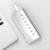 Nova Alumínio 7 Portas USB 3.0 Super Speed Hub com 3.3Ft. Cabo USB e 24 W (12V2A) Poder Adaptador para iMac MacBook PC Portátil Prata