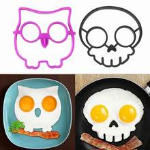 Owl/Skull Shape Breakfast Silicone Fried Egg Pancake Mold Decor DIY Cooking Tool(China)