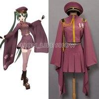 Japanese Anime Vocaloid Miku Senbon Sakura Kimono Uniform Dress Cosplay Costumes Any Size