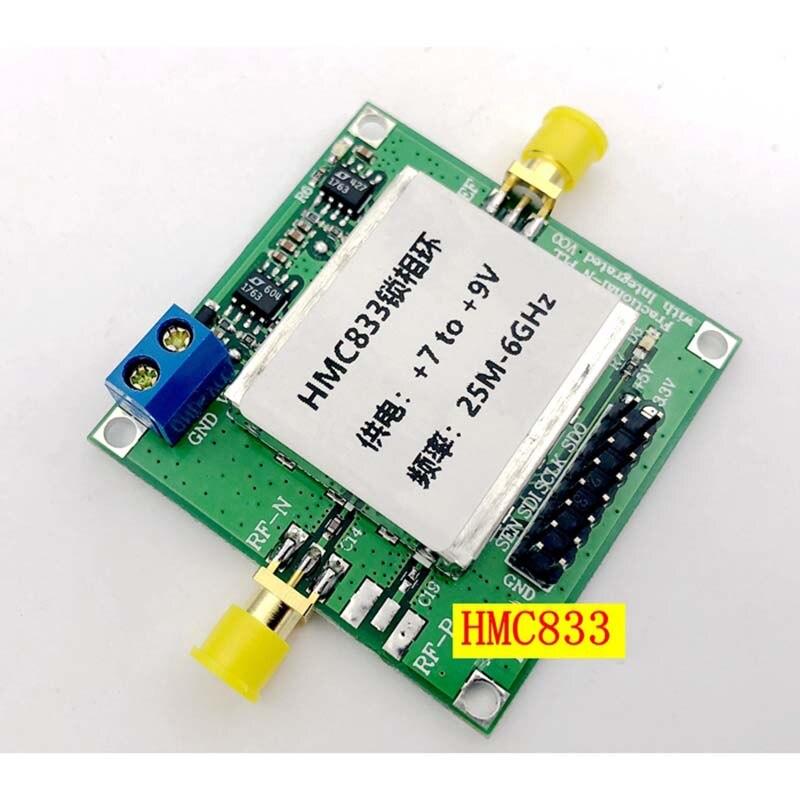 Source de signal RF Lusya HMC833 25 M-6 GHZ source de balayage en boucle verrouillée en Phase STM32 contrôle source ouverte TFT T0101 - 6